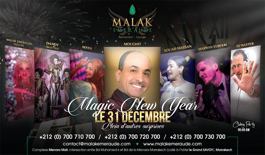Nouvel an au Malak Emeraude